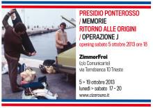 """Dal 5 al 19 ottobre 2013 lo spazio ZimmerFrei in via Torre Bianca 10 ospita una mostra di immagini, video e documenti sulla storia di Trieste negli anni d'oro dei """"jeansinari""""."""