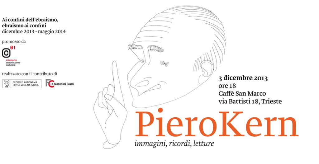 Piero Kern in una caricatura di Dino Tamburini