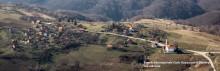 Veduta aeresa della regione del Podrinje, in Bosnia. L'altopiano sopra Srebrenica. In primo piano alcuni borhi del villaggio di Osmače e in secondo piano quelli di Brežani, marzo 2014  (photo courtesy: Zijah Gafić, archivio FBSR)