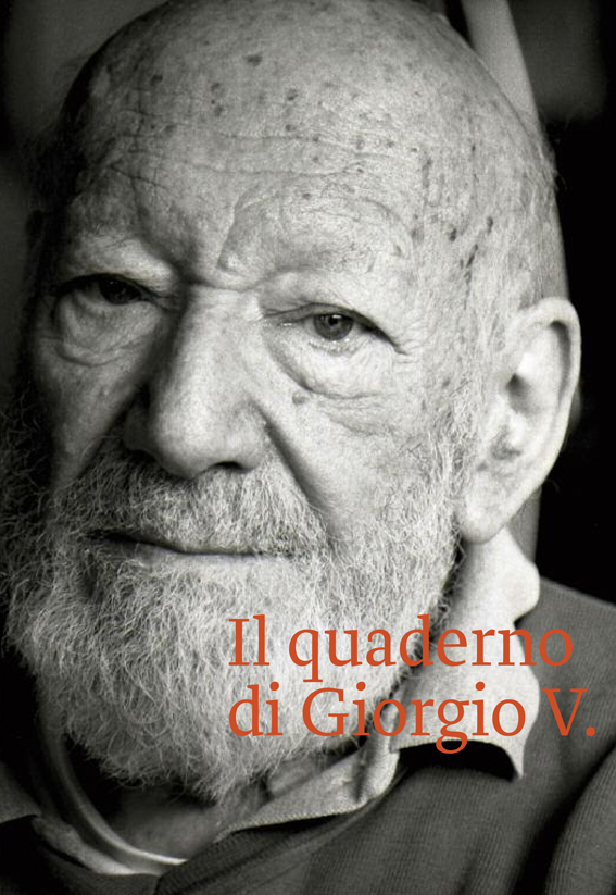 """La copertina del """"Quaderno di Giorgio V."""", l'immagine è di Marinella Zonta."""