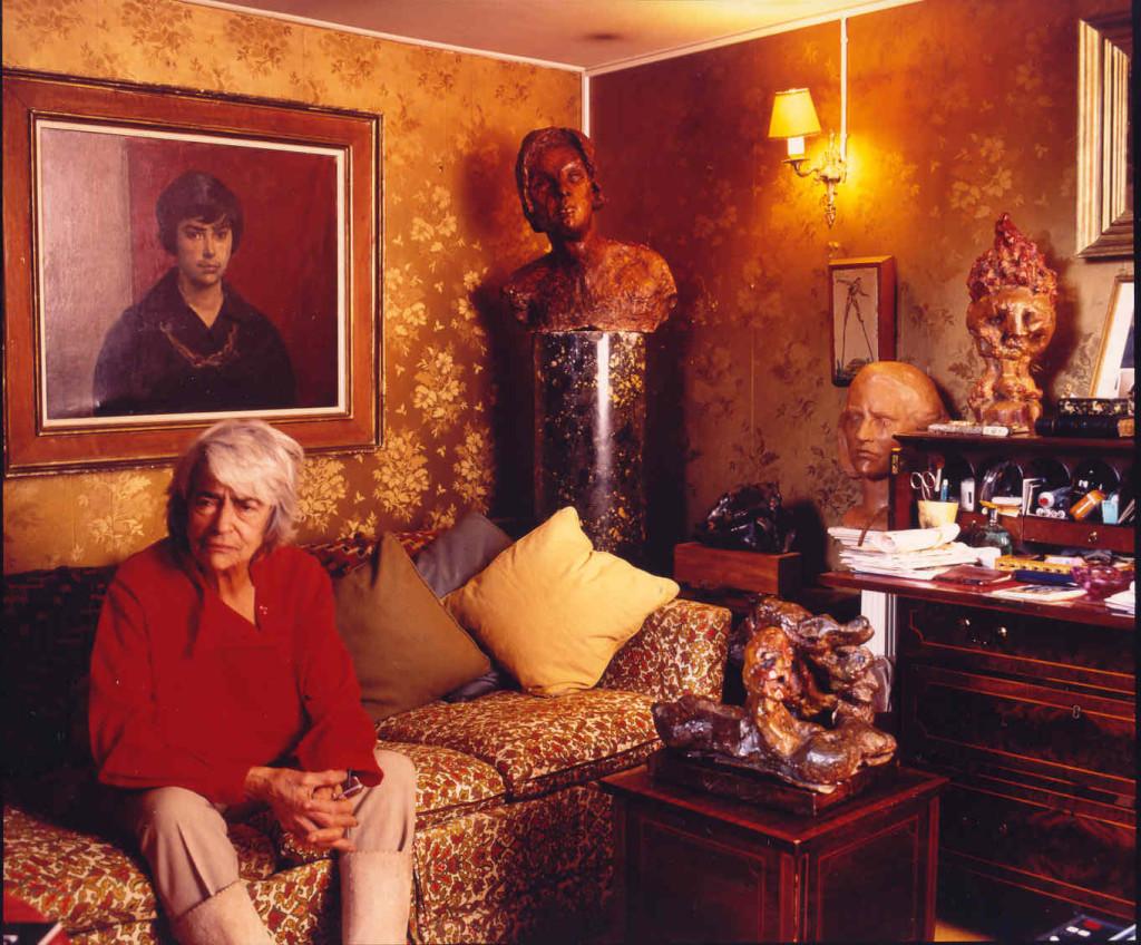 Fiore nello suo studio a Londra in Cadogan Square, anni '90