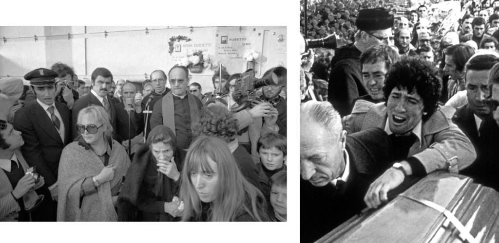 Alcuni momenti del funerale di Pasolini a Casarsa (foto di Claudio Ernè).